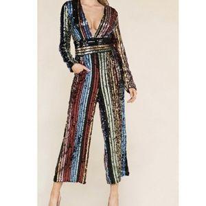 Pants - Rainbow sequin jumpsuit